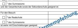 So sieht die Schulformempfehlung in NRW aus