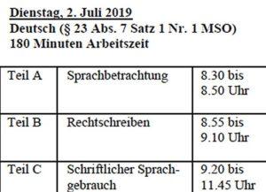 Termine Quali 2019 Bayern Teil 3