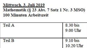 Termine Quali 2019 Bayern Teil 5