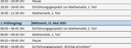 Termine Übertritt Bayern Probeunterricht