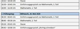 Termine Übertritt Bayern Probeunterricht 2020