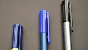 3 Bürostifte blau und schwarz