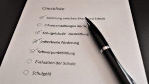 Checkliste für Privatschulen mit 7 Kriterien